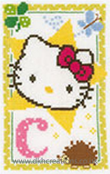 Hello Kitty Alphabet Letter C Cross Stitch Kit